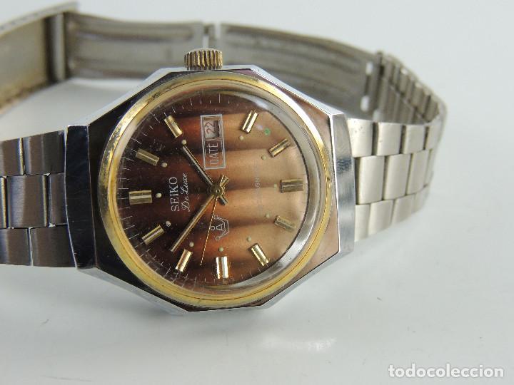 VINTAGE RELOJ DE PULSERA MARCA SEIKO DE LUXE ANTIMAGNETIC CON CALENDARIO JAPON (Relojes - Relojes Actuales - Seiko)