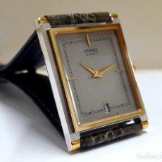 Relojes - Seiko: ELEGANTE RELOJ SEIKO RECTANGULAR BICOLOR AÑOS 80 DE CUARZO CALIBRE 9029 Y NUEVO A ESTRENAR. Lote 206213070