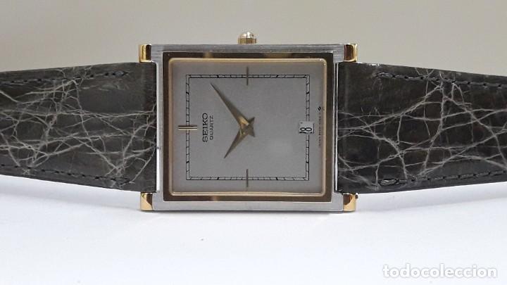 Relojes - Seiko: ELEGANTE RELOJ SEIKO RECTANGULAR BICOLOR AÑOS 80 DE CUARZO CALIBRE 9029 Y NUEVO A ESTRENAR - Foto 6 - 206213070