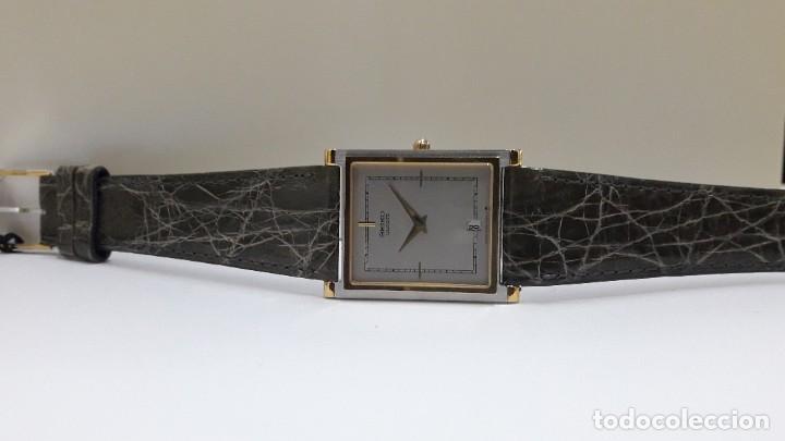 Relojes - Seiko: ELEGANTE RELOJ SEIKO RECTANGULAR BICOLOR AÑOS 80 DE CUARZO CALIBRE 9029 Y NUEVO A ESTRENAR - Foto 7 - 206213070