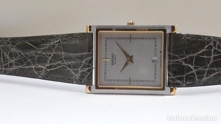 Relojes - Seiko: ELEGANTE RELOJ SEIKO RECTANGULAR BICOLOR AÑOS 80 DE CUARZO CALIBRE 9029 Y NUEVO A ESTRENAR - Foto 10 - 206213070
