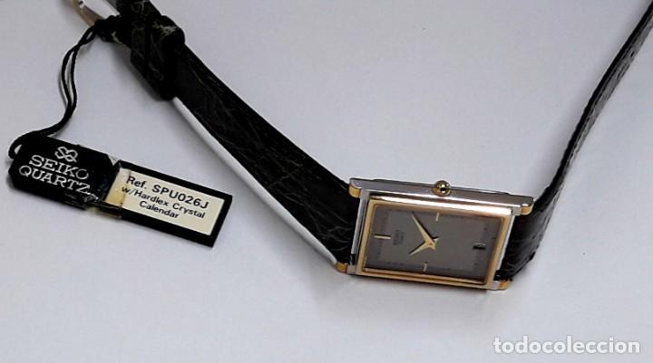 Relojes - Seiko: ELEGANTE RELOJ SEIKO RECTANGULAR BICOLOR AÑOS 80 DE CUARZO CALIBRE 9029 Y NUEVO A ESTRENAR - Foto 11 - 206213070