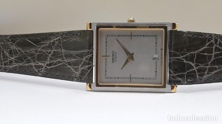 Relojes - Seiko: ELEGANTE RELOJ SEIKO RECTANGULAR BICOLOR AÑOS 80 DE CUARZO CALIBRE 9029 Y NUEVO A ESTRENAR - Foto 13 - 206213070