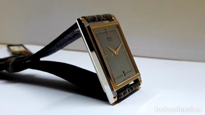 Relojes - Seiko: ELEGANTE RELOJ SEIKO RECTANGULAR BICOLOR AÑOS 80 DE CUARZO CALIBRE 9029 Y NUEVO A ESTRENAR - Foto 15 - 206213070