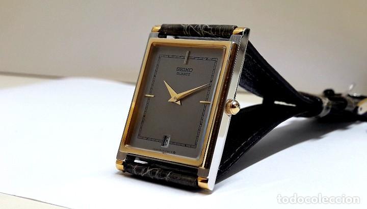 Relojes - Seiko: ELEGANTE RELOJ SEIKO RECTANGULAR BICOLOR AÑOS 80 DE CUARZO CALIBRE 9029 Y NUEVO A ESTRENAR - Foto 16 - 206213070