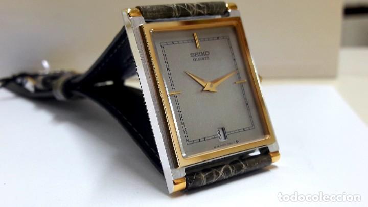 Relojes - Seiko: ELEGANTE RELOJ SEIKO RECTANGULAR BICOLOR AÑOS 80 DE CUARZO CALIBRE 9029 Y NUEVO A ESTRENAR - Foto 17 - 206213070