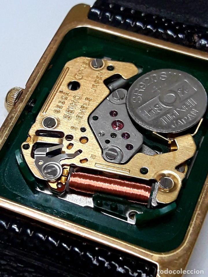 Relojes - Seiko: ELEGANTE RELOJ SEIKO CHAPADO EN ORO DE CUARZO CALIBRE 6530 Y NUEVO A ESTRENAR - Foto 6 - 207022662
