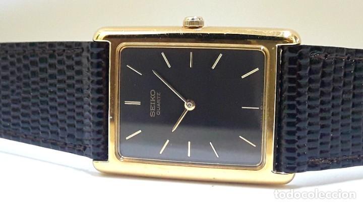 Relojes - Seiko: ELEGANTE RELOJ SEIKO CHAPADO EN ORO DE CUARZO CALIBRE 6530 Y NUEVO A ESTRENAR - Foto 14 - 207022662
