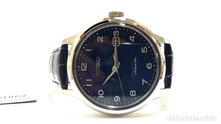 Relojes - Seiko: RELOJ SEIKO AUTOMÁTICO ESFERA AZUL CALIBRE 4R35 NUEVO A ESTRENAR - Foto 2 - 208356576