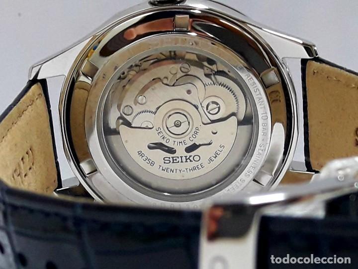 Relojes - Seiko: RELOJ SEIKO AUTOMÁTICO ESFERA AZUL CALIBRE 4R35 NUEVO A ESTRENAR - Foto 6 - 208356576