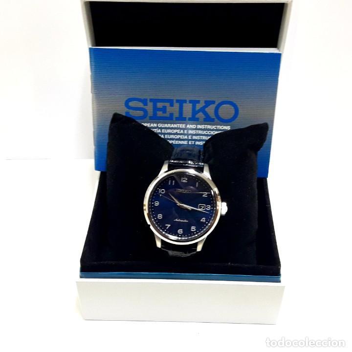 Relojes - Seiko: RELOJ SEIKO AUTOMÁTICO ESFERA AZUL CALIBRE 4R35 NUEVO A ESTRENAR - Foto 7 - 208356576