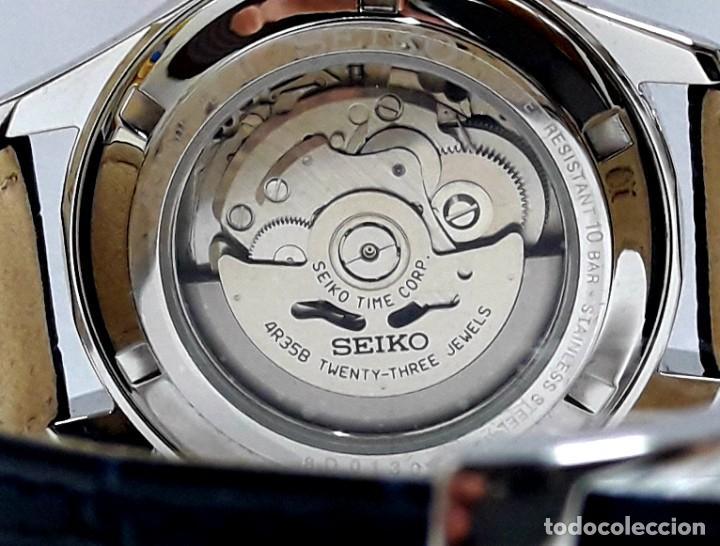 Relojes - Seiko: RELOJ SEIKO AUTOMÁTICO ESFERA AZUL CALIBRE 4R35 NUEVO A ESTRENAR - Foto 8 - 208356576