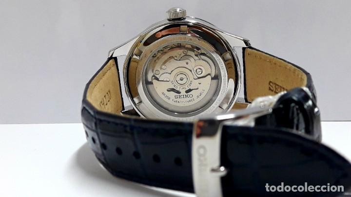Relojes - Seiko: RELOJ SEIKO AUTOMÁTICO ESFERA AZUL CALIBRE 4R35 NUEVO A ESTRENAR - Foto 10 - 208356576