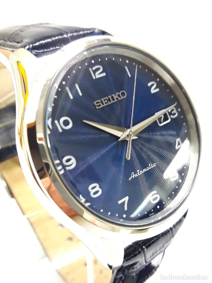 Relojes - Seiko: RELOJ SEIKO AUTOMÁTICO ESFERA AZUL CALIBRE 4R35 NUEVO A ESTRENAR - Foto 13 - 208356576