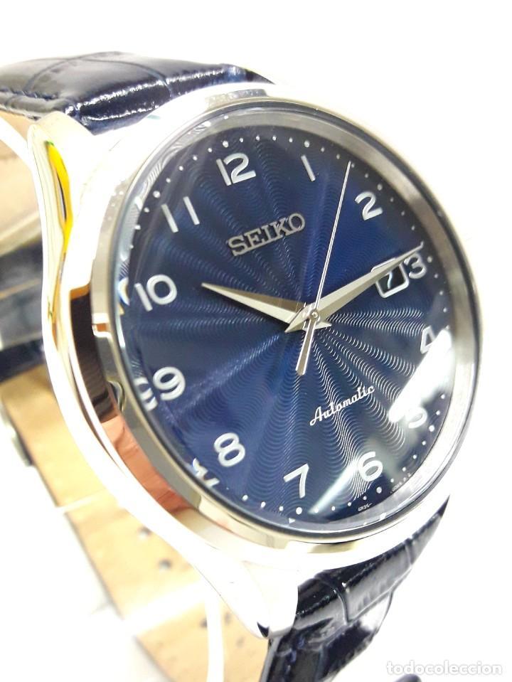 Relojes - Seiko: RELOJ SEIKO AUTOMÁTICO ESFERA AZUL CALIBRE 4R35 NUEVO A ESTRENAR - Foto 14 - 208356576