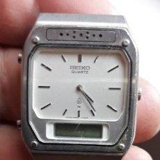 Relojes - Seiko: RELOJ SEIKO QUARTZ ANALOGICO Y DIGITAL. 090621 . H249-5070 A1. . RARO..ESFERA JAPAN H249-5100 R.. Lote 210090523