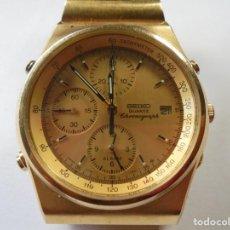 Relojes - Seiko: MAGNIFICO RELOJ SEIKO CRONOGRAFO DE QUARZO DE CABALLERO FUNCIONANDO BIEN. Lote 211787602