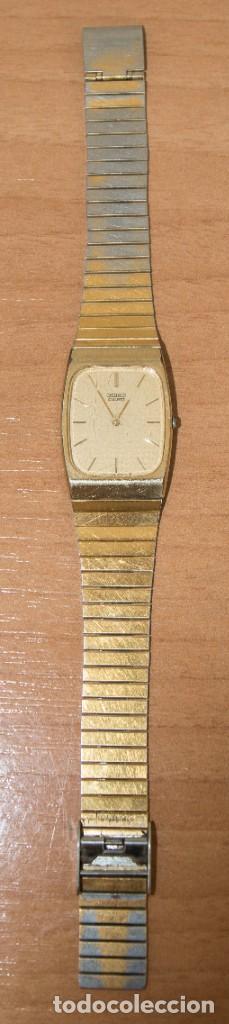 Relojes - Seiko: Reloj Seiko Quartz con baño de oro en mal estado, para restaurar o piezas recambio, años 80 - Foto 2 - 212161486