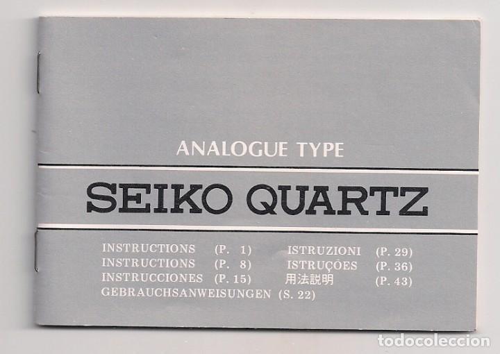 Relojes - Seiko: Reloj Seiko Quartz con baño de oro en mal estado, para restaurar o piezas recambio, años 80 - Foto 4 - 212161486