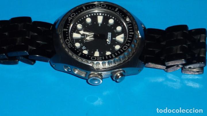 """Relojes - Seiko: SEIKO KINETIC Ref. SUN019P1 DIVER- CRISTAL ZAFIRO. CONOCIDO COMO The Vader-Tuna-Turtle or """"VaTT - Foto 5 - 195053058"""
