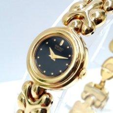 Relojes - Seiko: PEQUEÑO RELOJ SEIKO DE SEÑORA AÑOS 90 DE CUARZO CALIBRE 4N00 CHAPADO EN ORO Y NUEVO A ESTRENAR. Lote 214254397