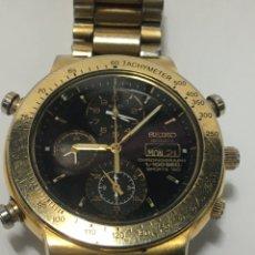 Relojes - Seiko: RELOJ SEIKO 7T59-6A00 CHRONOGRAPH SPORT 150 DORADO VINTAGE EN FUNCIONAMIENTO. Lote 217808725