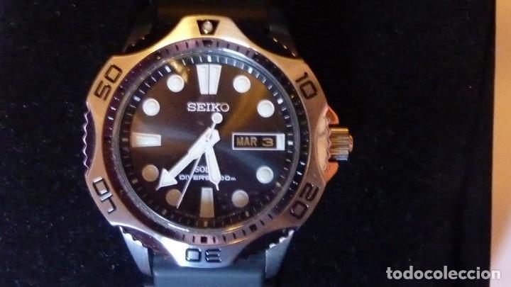 Relojes - Seiko: Seiko Solar Scuba Diver Sports SNE107P2 200 metros sumergible. Ecológico. NUEVO A ESTRENAR - Foto 24 - 196002070