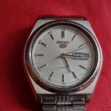 Relógios - Seiko: RELOJ SEIKO 5 AUTOMATICO .MIDE 37 MM FUNCIONA BIEN EL CRISTAL ESTA RALLADO. Lote 220355550