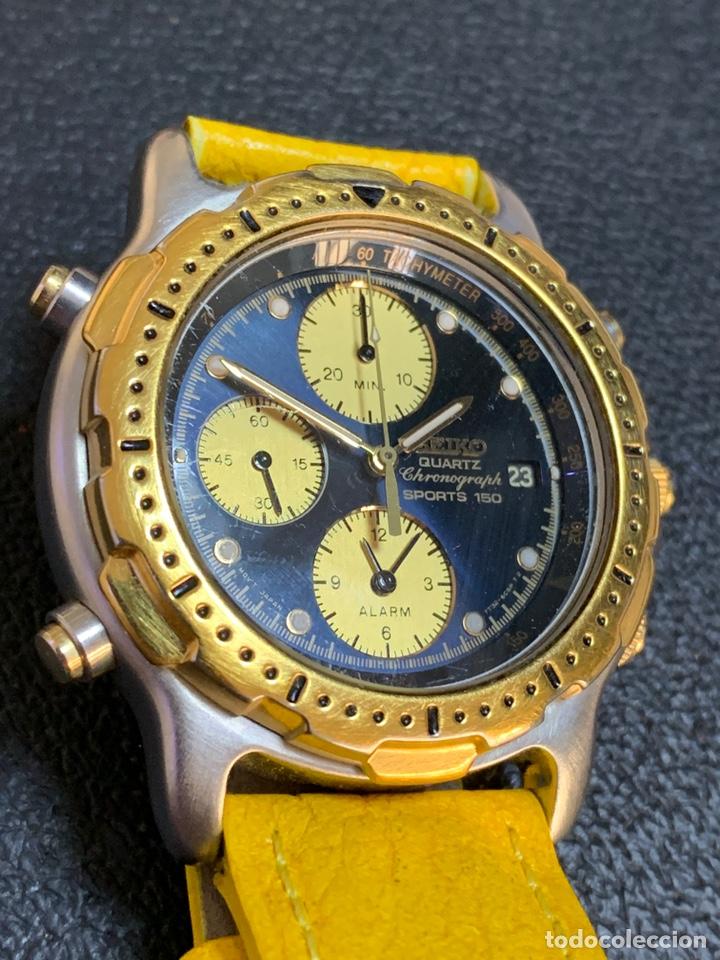 Relojes - Seiko: Seiko Sports 150 7T32 F020 chronograph vintage hombre espectacular funcionando de colección - Foto 7 - 221276061