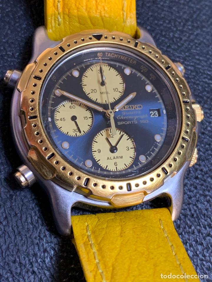 SEIKO SPORTS 150 7T32 F020 CHRONOGRAPH VINTAGE HOMBRE ESPECTACULAR FUNCIONANDO DE COLECCIÓN (Relojes - Relojes Actuales - Seiko)