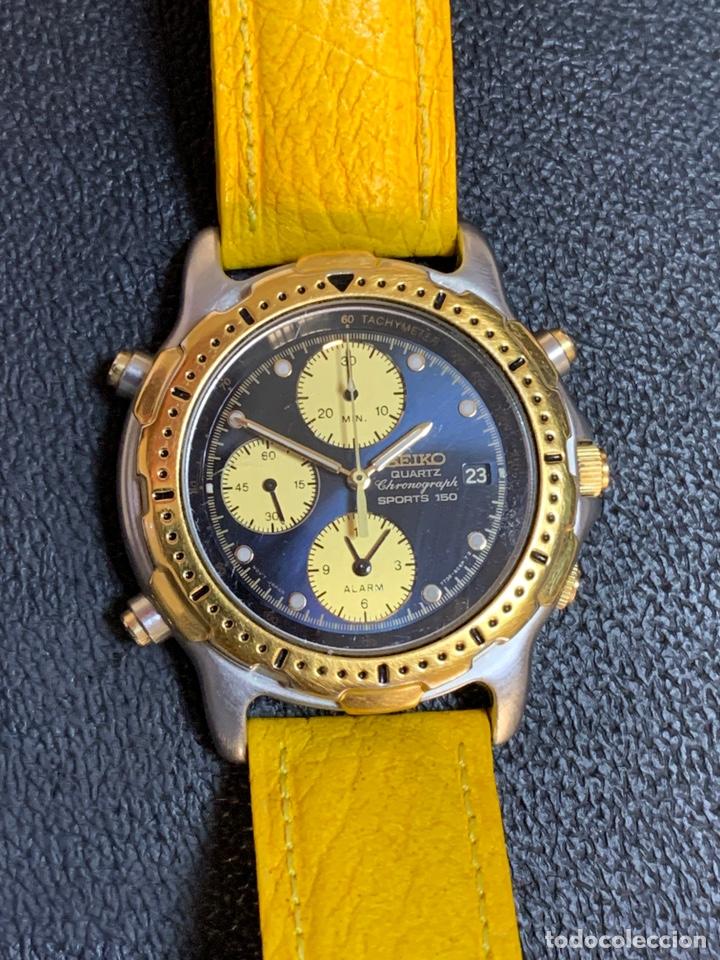 Relojes - Seiko: Seiko Sports 150 7T32 F020 chronograph vintage hombre espectacular funcionando de colección - Foto 8 - 221276061