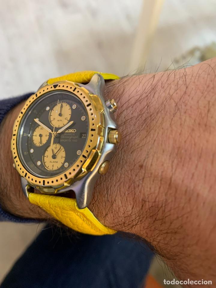 Relojes - Seiko: Seiko Sports 150 7T32 F020 chronograph vintage hombre espectacular funcionando de colección - Foto 11 - 221276061