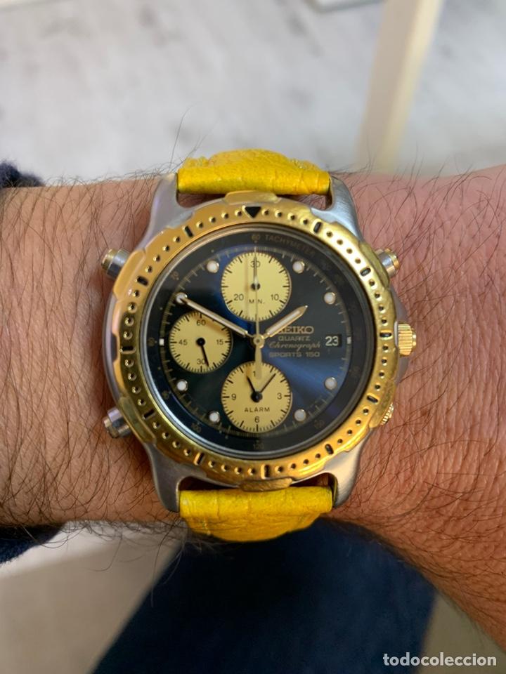 Relojes - Seiko: Seiko Sports 150 7T32 F020 chronograph vintage hombre espectacular funcionando de colección - Foto 14 - 221276061