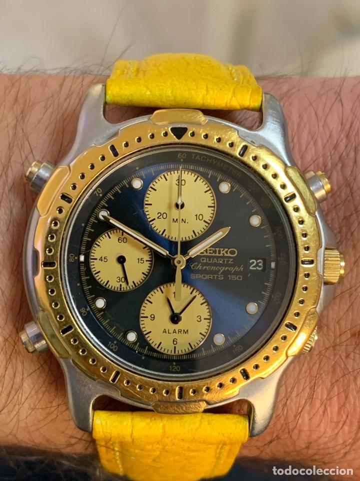 Relojes - Seiko: Seiko Sports 150 7T32 F020 chronograph vintage hombre espectacular funcionando de colección - Foto 2 - 221276061