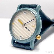 Relojes - Seiko: PECULIAR RELOJ DE SEÑORA SEIKO AÑOS 80 DE CUARZO CALIBRE 2P20 Y NUEVO A ESTRENAR. Lote 221309975