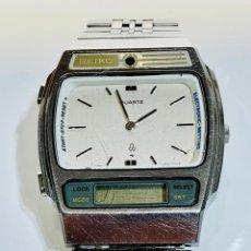 Relógios - Seiko: RELOJ SEIKO H259 - 5000A. HÍBRIDO: DIGITAL / ANALÓGICO. ACERO INOX ARMIS ORIGINAL. VTGE. 1980. RARO.. Lote 222010463