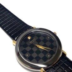 Relojes - Seiko: ELEGANTE RELOJ SEIKO AÑOS 80 CON ESFERA NEGRA AJEDREZADA DE CUARZO CALIBRE 2020 Y NUEVO A ESTRENAR. Lote 222681516