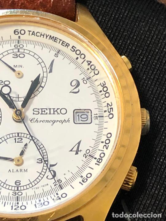 Relojes - Seiko: RELOJ CRONOGRAFO SEIKO ESFERA DORADA ALTA CALIDAD. VER FOTOS - Foto 2 - 224717868