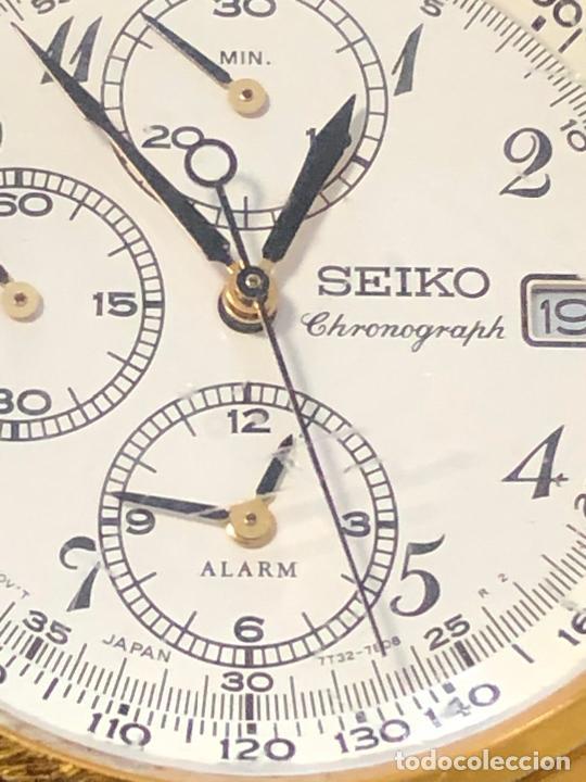 Relojes - Seiko: RELOJ CRONOGRAFO SEIKO ESFERA DORADA ALTA CALIDAD. VER FOTOS - Foto 4 - 224717868