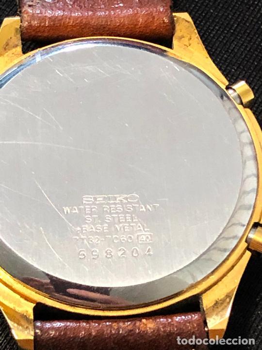 Relojes - Seiko: RELOJ CRONOGRAFO SEIKO ESFERA DORADA ALTA CALIDAD. VER FOTOS - Foto 5 - 224717868
