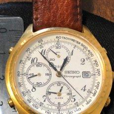 Relojes - Seiko: RELOJ CRONOGRAFO SEIKO ESFERA DORADA ALTA CALIDAD. VER FOTOS. Lote 224717868