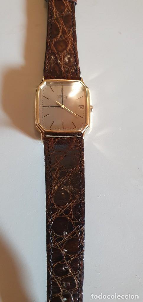 Relojes - Seiko: Reloj Seiko bañado en oro y correa piel - Foto 2 - 226017230