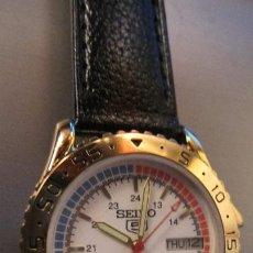 Relojes - Seiko: MAGNIFICO SEIKO 5 SPORT DIVER AUTOMATICO BISEL DORADO. FUNCIONANDO . 36 MM MUY BUEN ESTADO. Lote 226771755