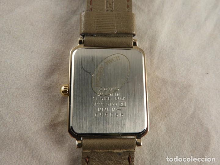 Relojes - Seiko: RELOJ SEIKO QUARTZ ACERO CORREA DE PIEL A ESTRENAR - Foto 3 - 228536465