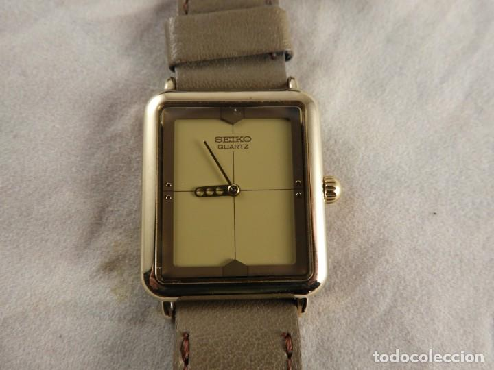 Relojes - Seiko: RELOJ SEIKO QUARTZ ACERO CORREA DE PIEL A ESTRENAR - Foto 5 - 228536465