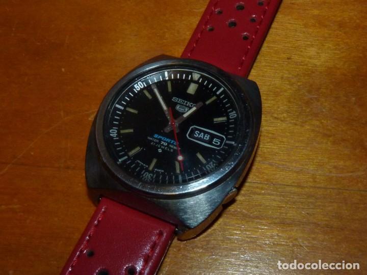 Relojes - Seiko: Buscado reloj automático Seiko 5 sports 6119-6023 diver 21 rubis de 1971 vintage made in Japan - Foto 4 - 228576290