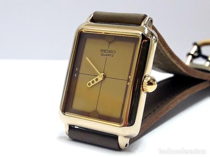 Relojes - Seiko: ELEGANTE RELOJ VINTAGE DE SEÑORA SEIKO AÑOS 80 CALIBRE 2P20 Y NUEVO A ESTRENAR - Foto 3 - 232523120