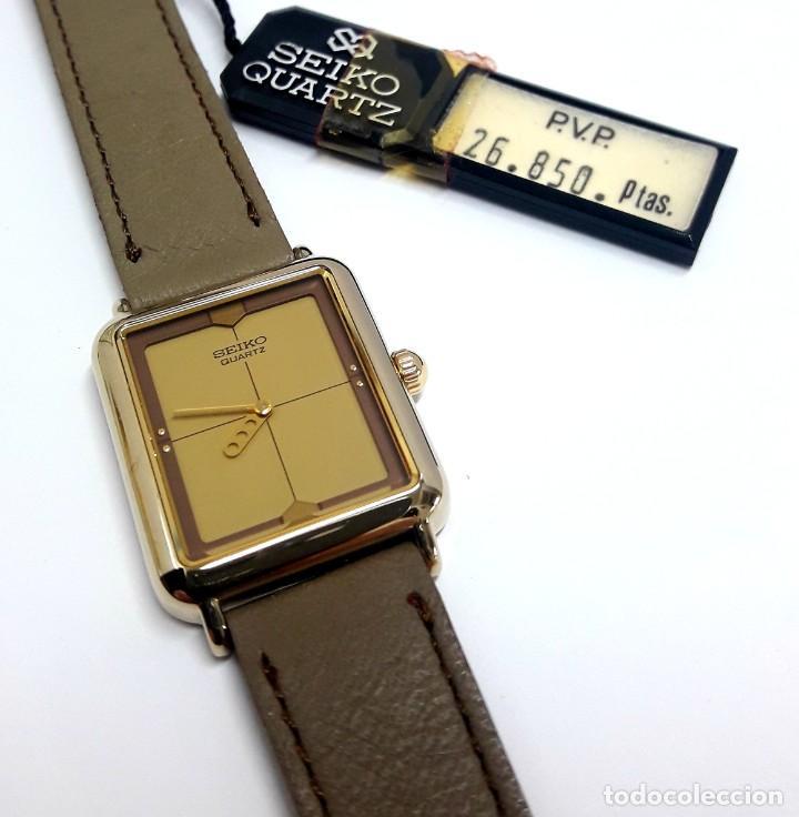 Relojes - Seiko: ELEGANTE RELOJ VINTAGE DE SEÑORA SEIKO AÑOS 80 CALIBRE 2P20 Y NUEVO A ESTRENAR - Foto 7 - 232523120