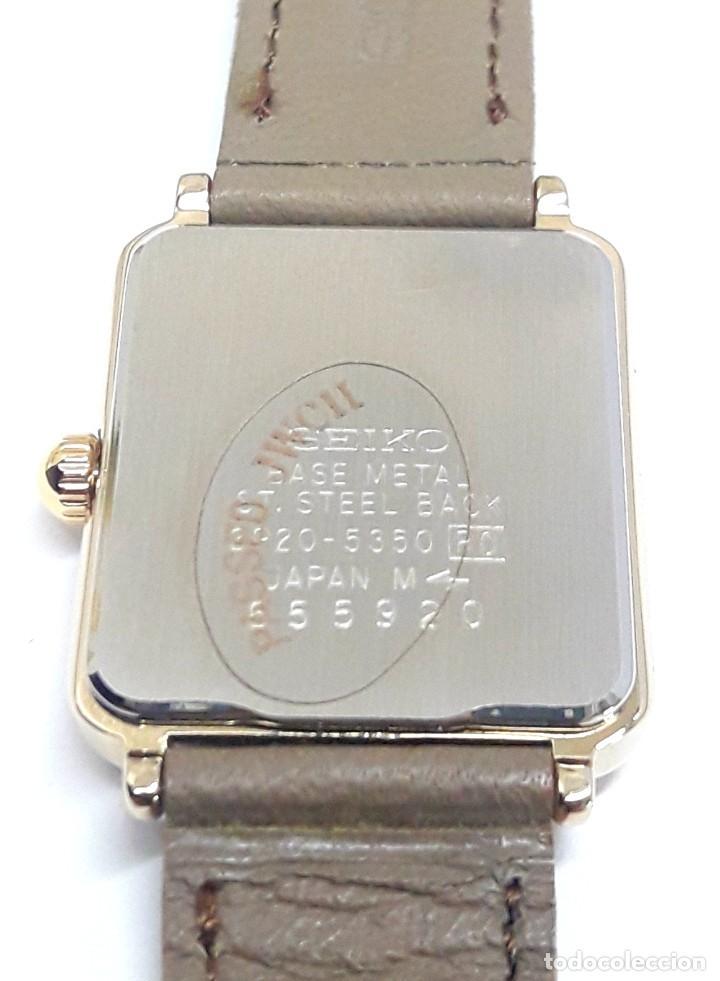 Relojes - Seiko: ELEGANTE RELOJ VINTAGE DE SEÑORA SEIKO AÑOS 80 CALIBRE 2P20 Y NUEVO A ESTRENAR - Foto 10 - 232523120