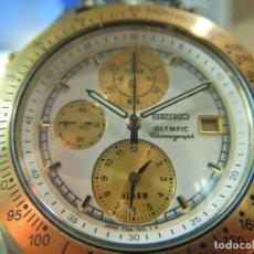 Relojes - Seiko: RELOJ SEIKO CRONOGRAFO OLYMPIC 7T42-7A50. Lote 233009895